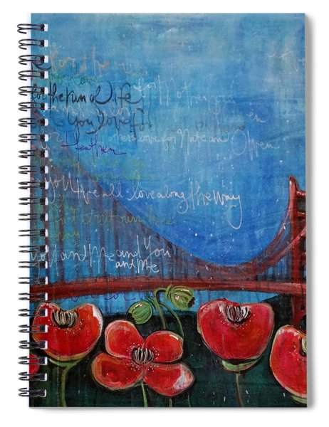 Love For San Francisco Spiral Notebook