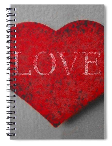 Love Heart 1 Spiral Notebook