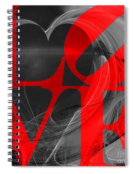 Love Heart 20130707 V1b Spiral Notebook