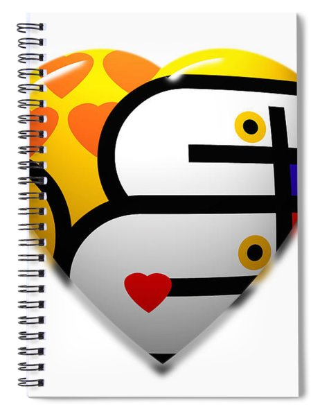 Love Heart Pop Spiral Notebook