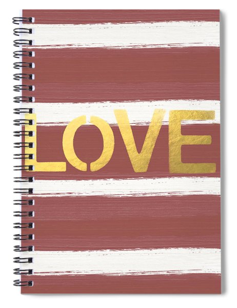 Love In Gold And Marsala Spiral Notebook