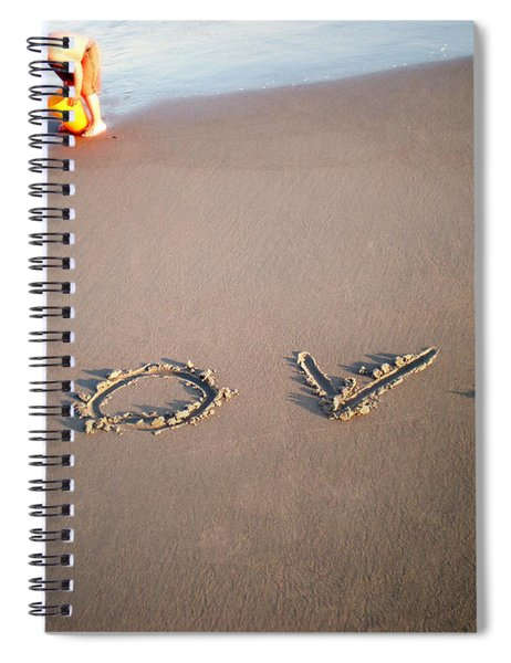 Love Is Blue Spiral Notebook