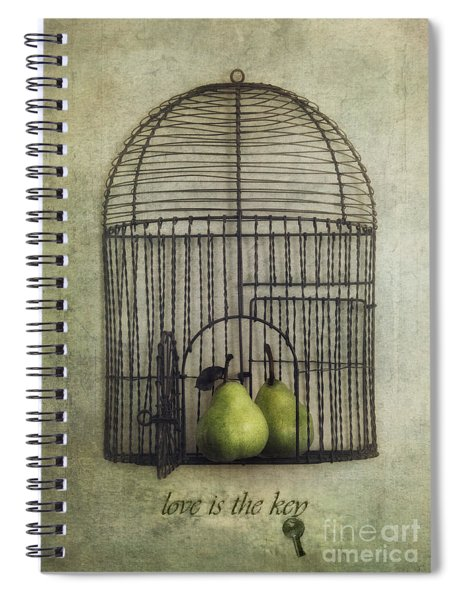 Love Is The Key With Typo Spiral Notebook
