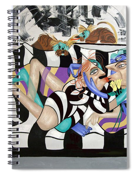 Love Makes The World Go Round Spiral Notebook