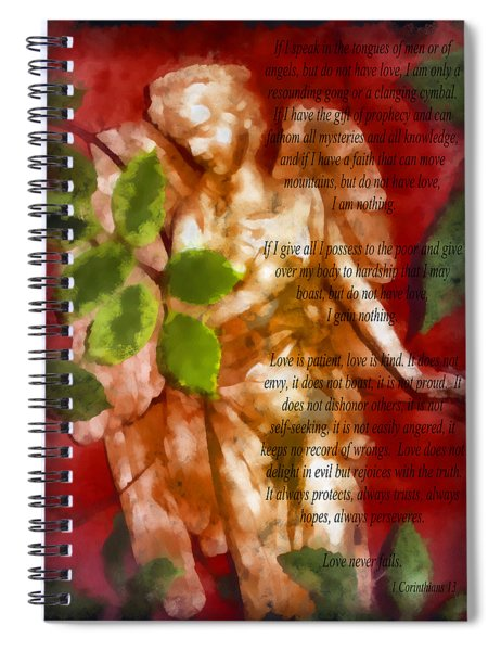 Love Never Fails 3 Spiral Notebook