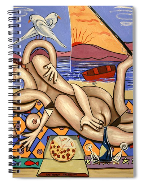 Love On A Deserted Island Spiral Notebook