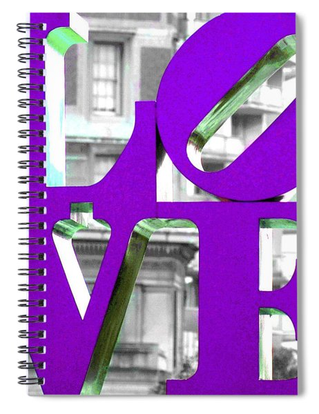Love Philadelphia Purple Spiral Notebook