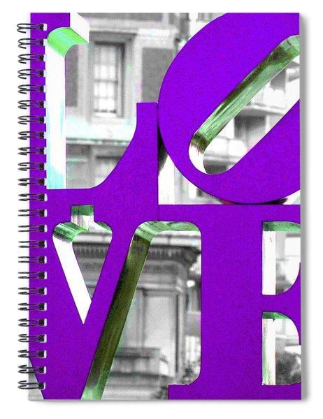 Love Philadelphia Purple Spiral Notebook