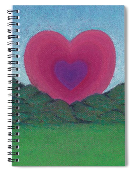 Love Rising Spiral Notebook