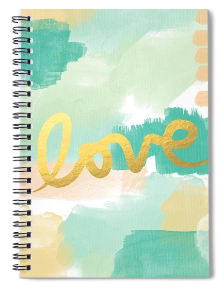 Love With Peach And Mint Spiral Notebook