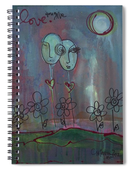 Love You Give Lollipops Spiral Notebook