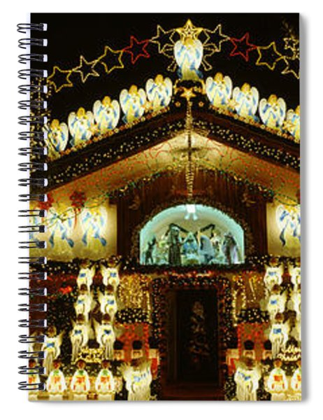 Low Angle View Of A House Decorated Spiral Notebook