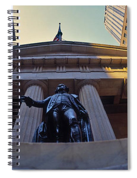 Low Angle View Of A Stock Exchange Spiral Notebook
