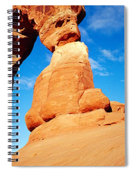 Low Angle View Of Delicate Arch, Arches Spiral Notebook