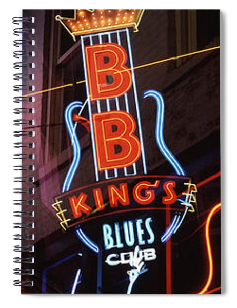 Low Angle View Of Neon Signs Lit Spiral Notebook