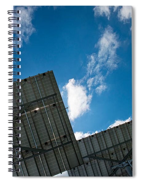 Low Angle View Of Solar Panels Spiral Notebook