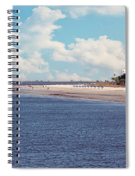 Low Tide - Fort Myers Beach Spiral Notebook