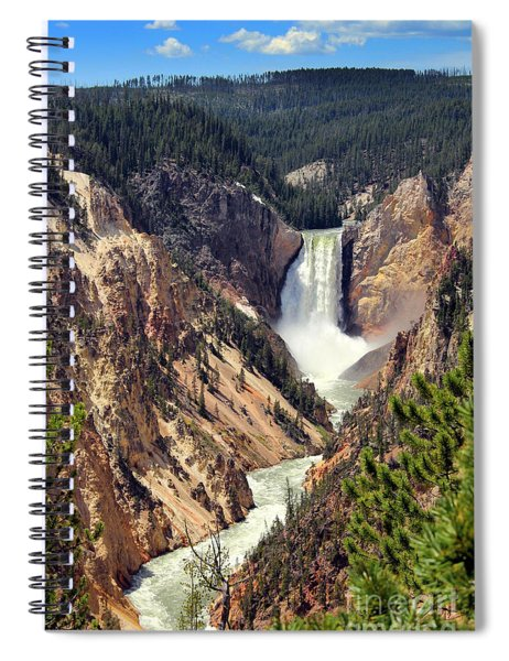 Lower Falls Of Yellowstone Spiral Notebook