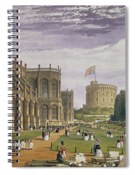 Lower Ward With A View Of St Georges Spiral Notebook