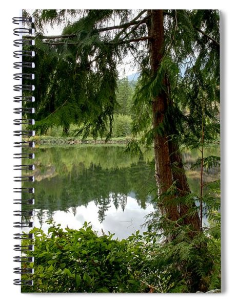 Lush Green At Starvation Lake Spiral Notebook