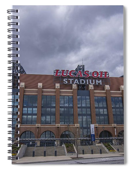Lucas Oil Stadium Indianapolis Colts Clouds Spiral Notebook