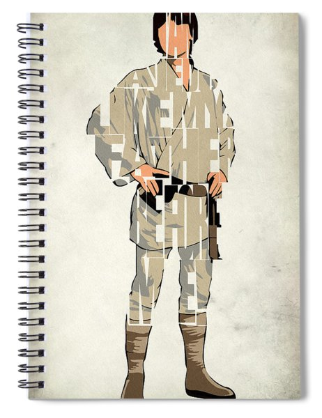 Luke Skywalker - Mark Hamill  Spiral Notebook