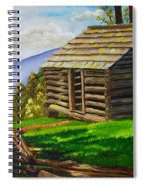 Lunch At An Old Cabin In The Blue Ridge Spiral Notebook