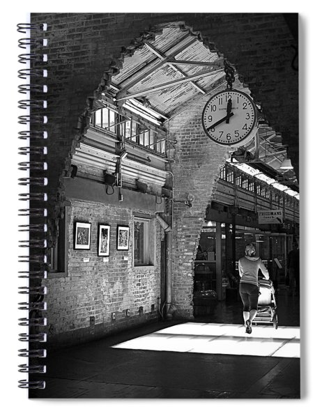 Lunchtime At Chelsea Market Spiral Notebook