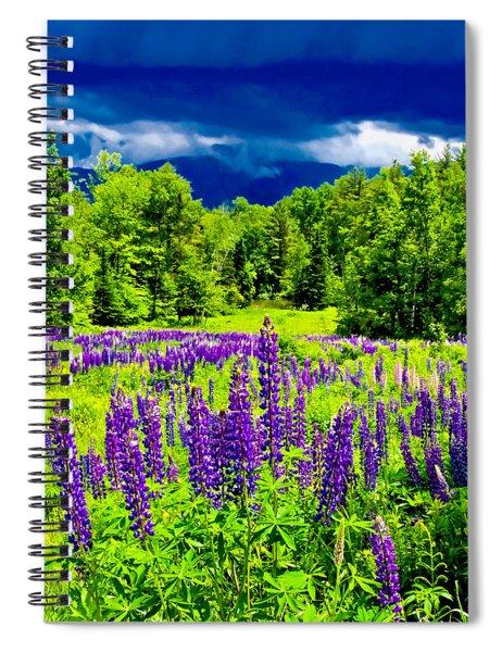 Lupines Light Spiral Notebook