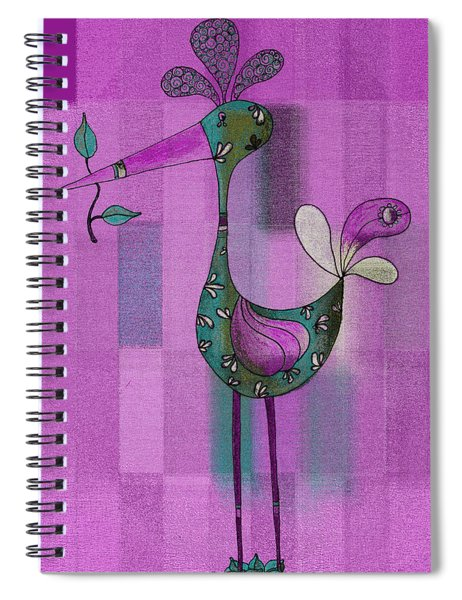 Lutgarde's Bird - 061109106-purple Spiral Notebook