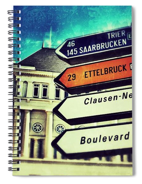 Luxembourg City Spiral Notebook