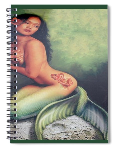 Lydia The Tattooed Mermaid Spiral Notebook