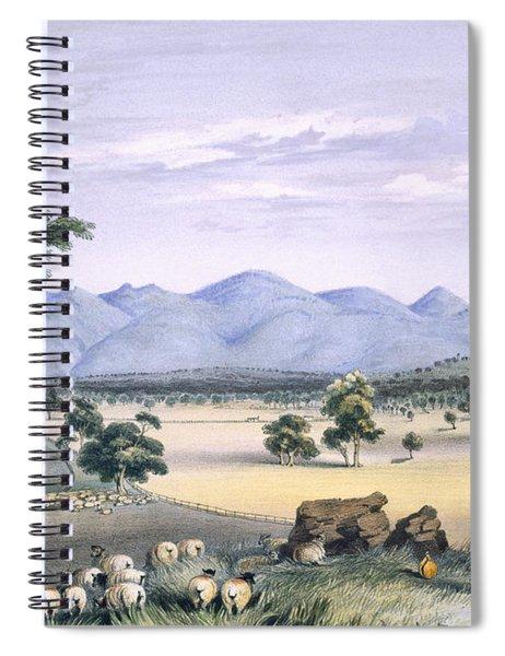 Lynedoch Valley Looking Towards Spiral Notebook