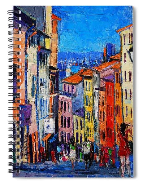 Lyon Colorful Cityscape Spiral Notebook