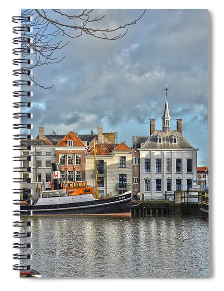 Maassluis Harbour Spiral Notebook