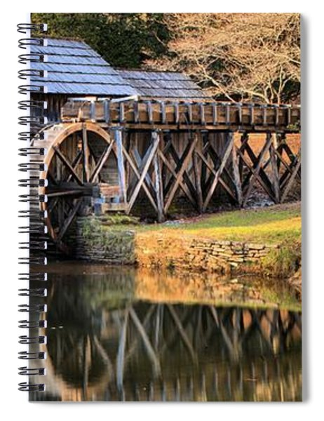 Mabry Grist Mill Fall Panorama Spiral Notebook