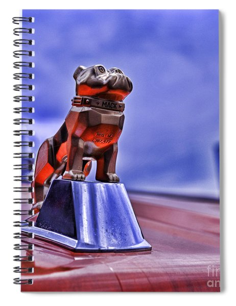 Mack The Bulldog Mascot Spiral Notebook