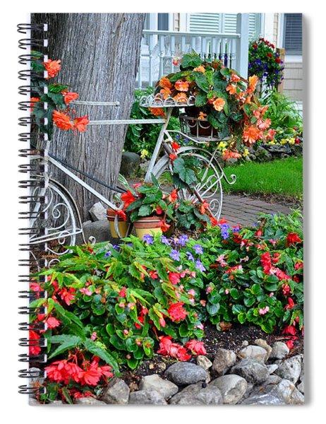 Mackinac Island Garden Spiral Notebook