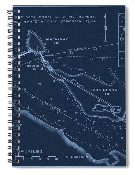 Mackinaw Bridge And Causeway Plans 1933 Spiral Notebook