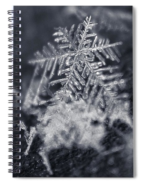 Macro Snowflake Spiral Notebook