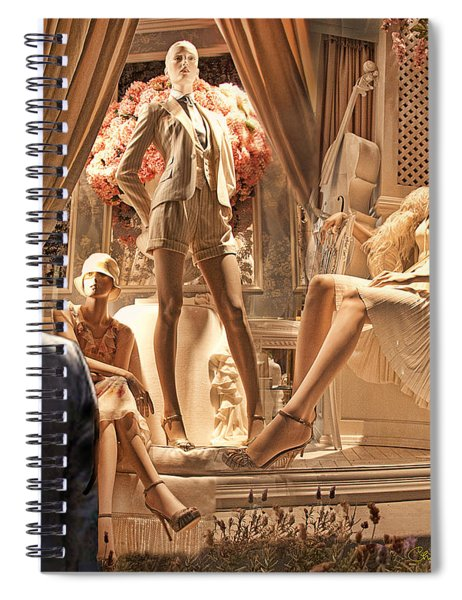 Madison Ave Meets Rodeo Drive Spiral Notebook