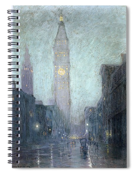 Madison Avenue At Twilight Spiral Notebook
