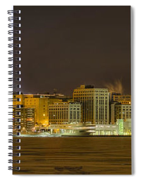 Madison - Wisconsin City  Panorama - No Fireworks Spiral Notebook