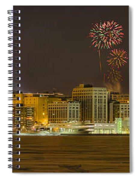 Madison Skyline New Years Eve Spiral Notebook