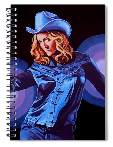 Madonna Painting Spiral Notebook