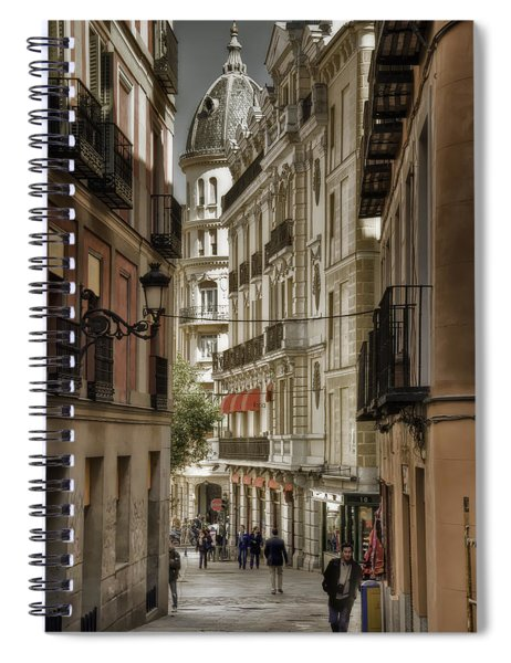 Madrid Streets Spiral Notebook