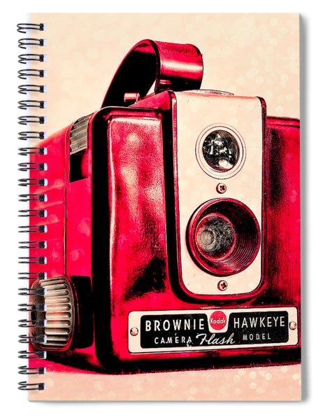 Magenta Brownie Hawkeye - Square Spiral Notebook