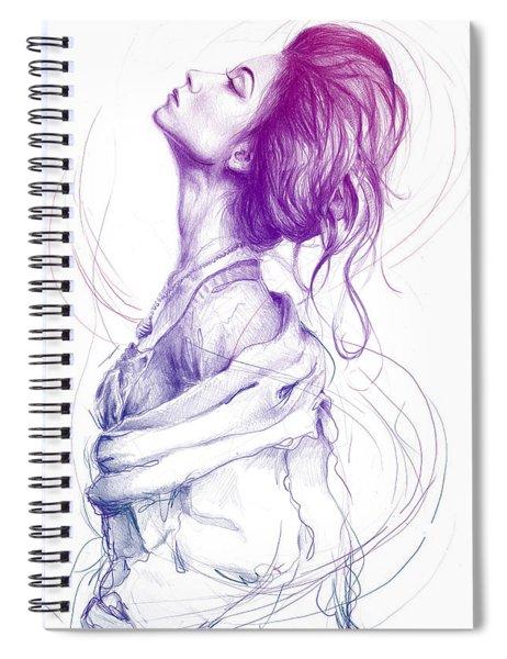 Purple Fashion Illustration Spiral Notebook