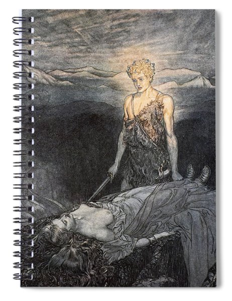 Magical Rapture Pierces My Heart; Fixed Spiral Notebook