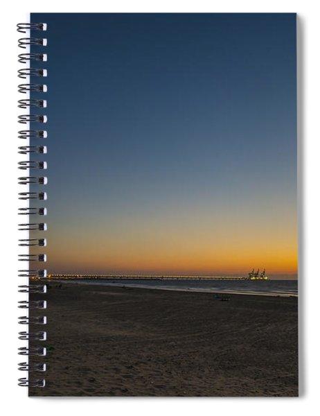 magical sunset moments at Caesarea  Spiral Notebook